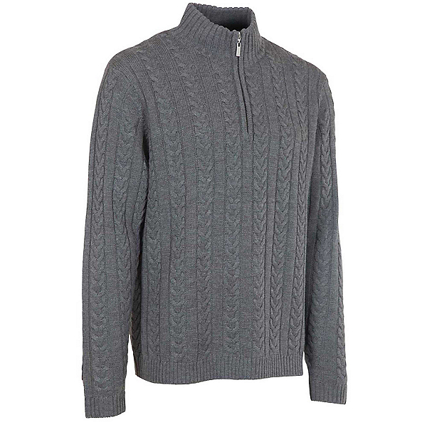 Neve Designs Andrew Zip-Neck Mens Sweater, Grey, 600