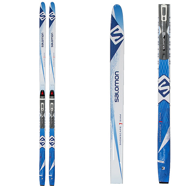 Salomon Snowscape 7 Siam Womens Cross Country Skis with Bindings 2017, Black, 600