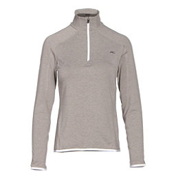 KJUS Trace Half Zip Womens Mid Layer, String Melange, 256