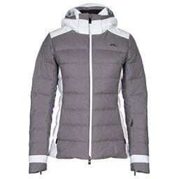 KJUS Snowscape Womens Insulated Ski Jacket, Nine Iron Melange-White, 256