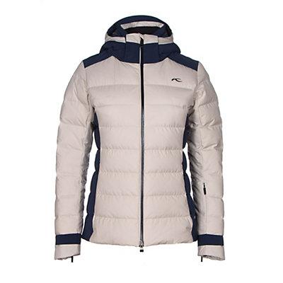 KJUS Snowscape Womens Insulated Ski Jacket, String Melange-Atlanta Blue, viewer