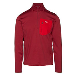 KJUS Hydraulic Half Zip Mens Mid Layer, Biking Red, 256