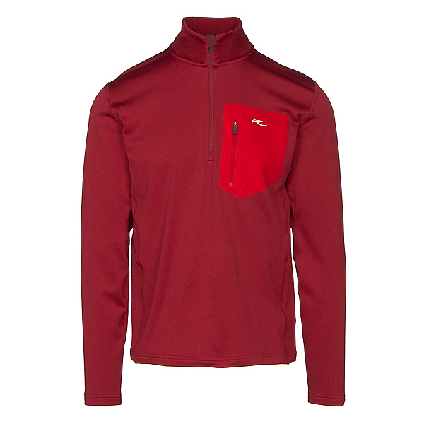 KJUS Hydraulic Half Zip Mens Mid Layer, Biking Red, 600