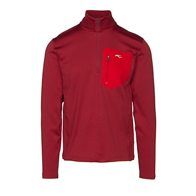KJUS Hydraulic Half Zip Mens Mid Layer, Biking Red, viewer