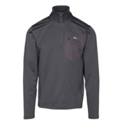 KJUS Hydraulic Half Zip Mens Mid Layer, Nine Iron, medium