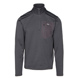 KJUS Hydraulic Half Zip Mens Mid Layer, Nine Iron, 256