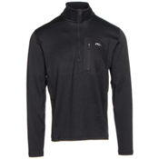 KJUS Hydraulic Half Zip Mens Mid Layer, Black, medium