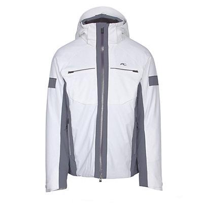 KJUS Downforce Mens Insulated Ski Jacket, White-Nightshadow Blue, viewer