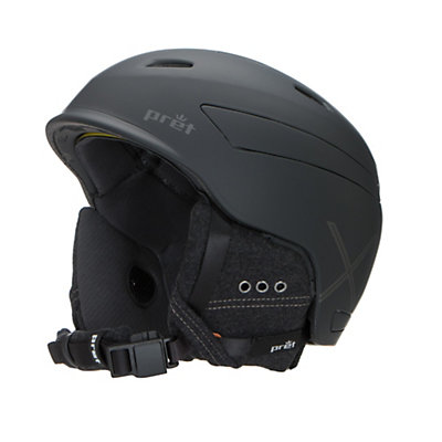 Pret Effect X Helmet, Rubber Jet Black, viewer