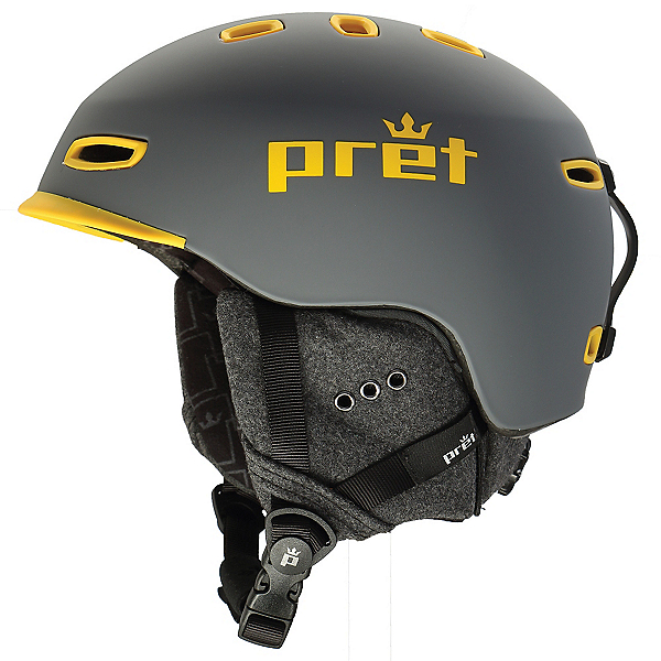 Pret Cynic Helmet, Rubber Rock Grey, 600