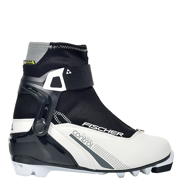 Fischer XC Control My Style Womens NNN Cross Country Ski Boots, Black-White, 600