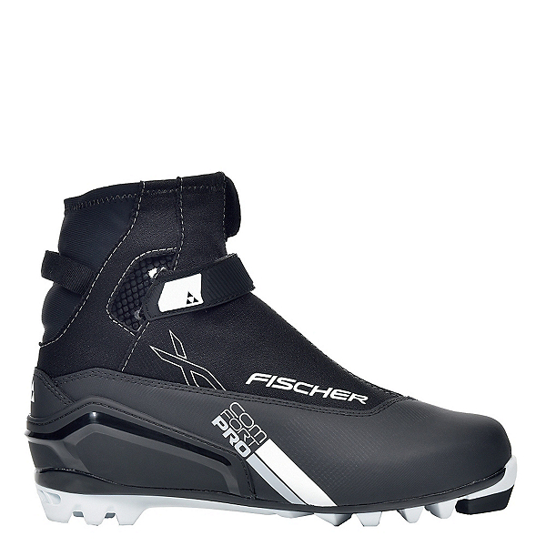 Fischer XC Comfort Pro NNN Cross Country Ski Boots, Black-Silver, 600