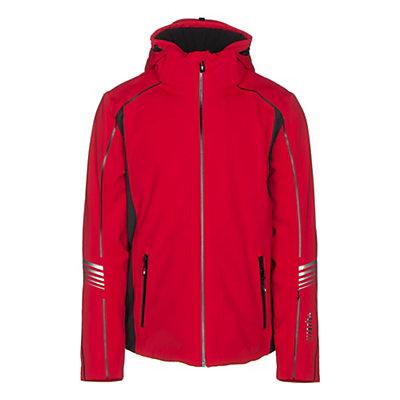 Rh+ Logo KR Mens Insulated Ski Jacket, Red-Dark Grey, viewer