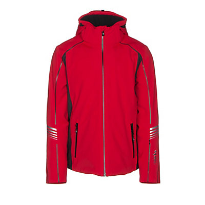 Rh+ Logo KR Mens Insulated Ski Jacket, Red-Dark Grey, viewer