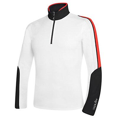 Rh+ Planar Mens Mid Layer, White-Black-Red, viewer