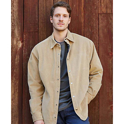 Purnell Corduroy Shirt Mens Jacket, Tan, viewer