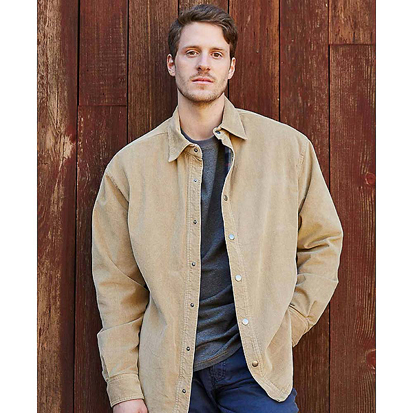 Purnell Corduroy Shirt Mens Jacket, Tan, 600