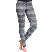 Purnell Fair Isle Base Layer Leggings, Black-White, medium