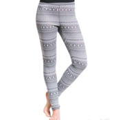 Purnell Fair Isle Base Layer Leggings, White-Grey, medium