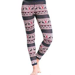 Purnell Reindeer Print Base Layer Legging, Navy-Cream, 256