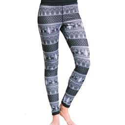 Purnell Reindeer Print Base Layer Legging, Black-Grey, 256