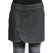 Purnell Wool Zip Skirt, Grey, medium
