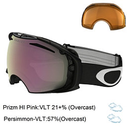 Oakley Airbrake Prizm Asian Fit Goggles, Matte Black-Prizm Hi Pink Irid + Bonus Lens, 256