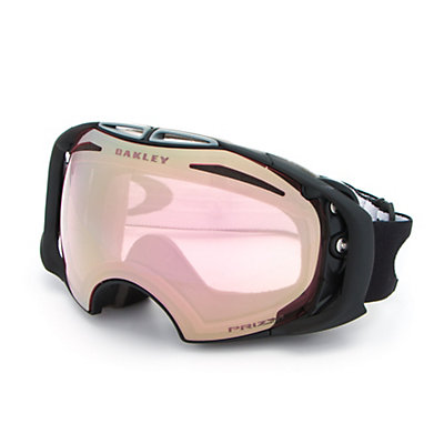Oakley Airbrake Prizm Asian Fit Goggles, Iron Fired Brick-Prizm Hi Pin + Bonus Lens, viewer