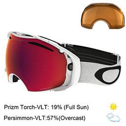 Oakley Airbrake Prizm Asian Fit Goggles 2017, Polished White-Prizm Torch Iri + Bonus Lens, 256