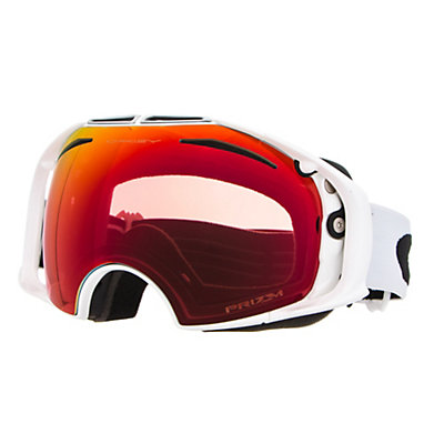 Oakley Airbrake Prizm Asian Fit Goggles 2017, Iron Fired Brick-Prizm Hi Pin + Bonus Lens, viewer