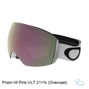 Oakley Flight Deck Prizm Goggles 2017, Matte White-Prizm Hi Pink Irid, medium