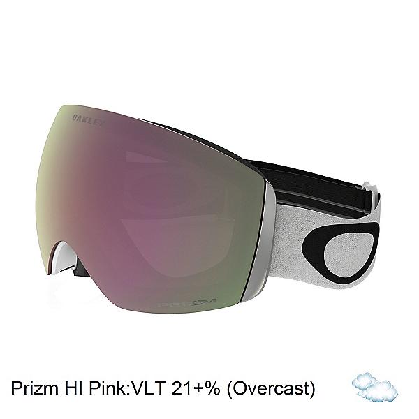 Oakley Flight Deck Goggles, Matte White-Prizm Hi Pink Irid, 600