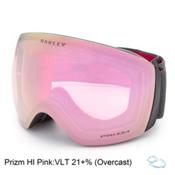 Oakley Flight Deck Prizm Asian Fit Goggles 2017, Iron Fired Brick-Prizm Hi Pink, medium