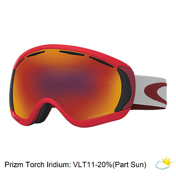 Oakley Canopy Prizm Goggles, Red Oxide-Prizm Torch Iridium, 600