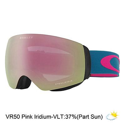Oakley Flight Deck XM Womens Goggles 2017, Legion Blue Rose-Vr50 Pink Iri, viewer