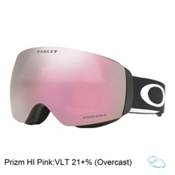 Oakley Flight Deck XM Prizm Asian Fit Goggles 2017, Matte Black-Prizm Hi Pink Irid, medium