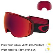 Oakley Airbrake XL Prizm Goggles 2018, Obsessive Lines Red-Prizm Torc + Bonus Lens, medium