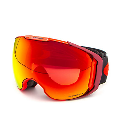 Oakley Airbrake XL Prizm Goggles 2017, Obsessive Lines Red-Prizm Torc + Bonus Lens, viewer