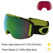 Oakley Airbrake XL Prizm Goggles 2017, Citrus Black-Prizm Jade Iridiu + Bonus Lens, medium