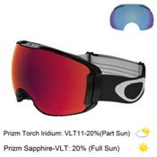 Oakley Airbrake XL Prizm Goggles 2017, Jet Black-Prizm Torch Iridium + Bonus Lens, medium