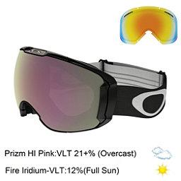 Oakley Airbrake XL Prizm Goggles 2017, Jet Black-Prizm Hi Pink Iridiu + Bonus Lens, 256