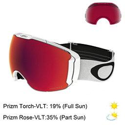 Oakley Airbrake XL Prizm Goggles, Polished White-Prizm Torch Iri + Bonus Lens, 256