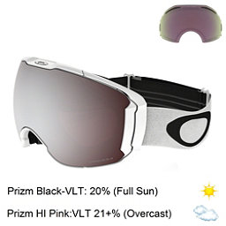 Oakley Airbrake XL Prizm Goggles 2018, Polished White-Prizm Black Iri + Bonus Lens, 256