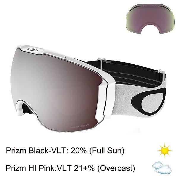 Oakley Airbrake XL Prizm Goggles 2017, Polished White-Prizm Black Iri + Bonus Lens, 600