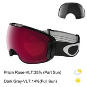 Oakley Airbrake XL Prizm Goggles, Jet Black-Prizm Rose Iridium + Bonus Lens, medium