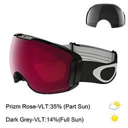 Oakley Airbrake XL Prizm Goggles, Jet Black-Prizm Rose Iridium + Bonus Lens, 256
