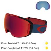 Oakley Airbrake XL Prizm Goggles, Red Legion Blue-Prizm Torch Ir + Bonus Lens, medium
