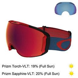 Oakley Airbrake XL Prizm Goggles, Red Legion Blue-Prizm Torch Ir + Bonus Lens, 256