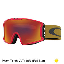 Oakley Line Miner Prizm Goggles 2017, Red Burnished Iron-Prizm Torch, 256