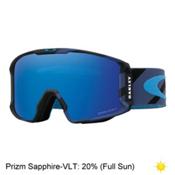 Oakley Line Miner Prizm Goggles 2018, Hazard Bar Blue-Prizm Sapphire, medium